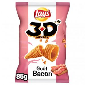 3d's bugles goût bacon lay's 85 g