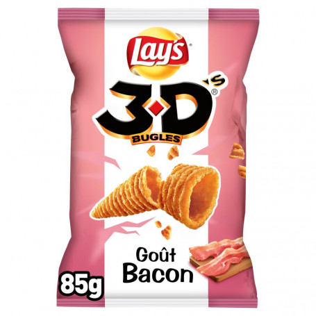 3d's bugles goût bacon lay's 85 g