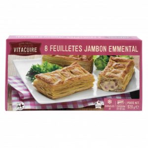 8 feuilletes jambon fromage vitacuire 520gr