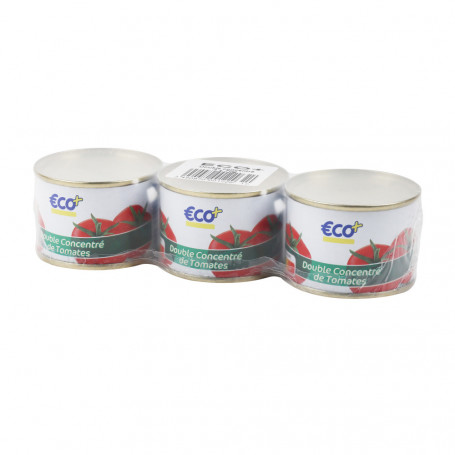 double concentre tomate 1/12 eco+ 3x70grs