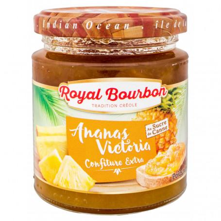 confiture extra ananas victoria au sucre de canne royal bourbon 250grs