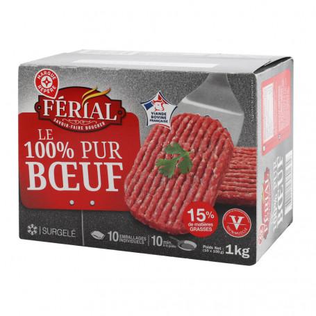 steacks hache 15% mg x10 chantegrile 1kg