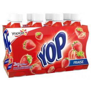 yop 8x250g fraise money yoplait